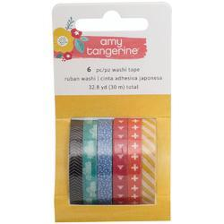Oh Happy Life Mini Washi Tape Rolls 6/Pkg