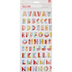 """Oh Happy Life Oh Yes/Alpha Multicolor Thickers Stickers 5.5""""X11"""" 2/Pkg"""