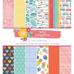 """Oh Happy Life Single-Sided Paper Pad 6""""X6"""" 36/Pkg"""