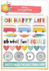Oh Happy Life Sticker Book 8 Pages - 1