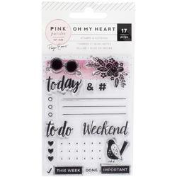 Oh My Heart Acrylic Stamps & 25-Page Notepad