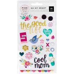 Oh My Heart Puffy Stickers Icons & Phrases