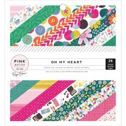 "Oh My Heart Single-Sided Paper Pad 6""X6"" 36/Pkg"