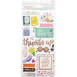 """Oh My Heart Thickers Stickers Good Life Icon 5.5""""X11"""" 2/Pkg"""