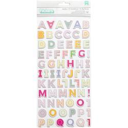 """Oh My Heart Thickers Stickers Sunshine Alpha/Printed Chipboard 5.5""""X11"""" 2/Pkg"""