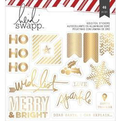 Oh What Fun Gold Ho, Ho, Ho Foil Stickers