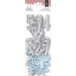 Oh What Fun Number & Shape Die-Cuts blue/silver - 1