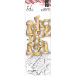 Oh What Fun Number & Shape Die-Cuts gold/pearl - 1