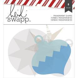 Oh What Fun Winter Silver Foil Transparent Die-Cut Shapes blue/silver - 1
