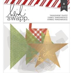 Oh What Fun Winter Gold Foil Transparent Die-Cut Shapes - 1