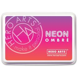 Ombre Neon Red To Purple