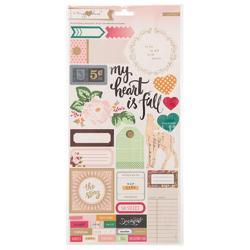 Open Book Accent & Phrase Cardstock Stickers