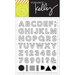 Outline Letters Clear Stamps - 1