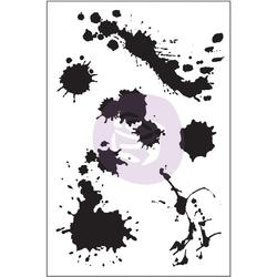 Paint Splatters Cling Stamps
