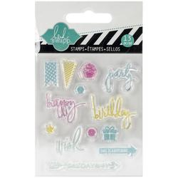 Party Mixed Media Clear Mini Stamps - 1