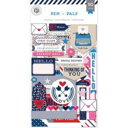 Pen Pals Chipboard Stickers Flip Pack 3sheets - 1