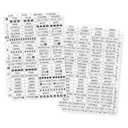 "Carpe Diem Labels Clear Stickers 4""X6"" 4/Pkg"