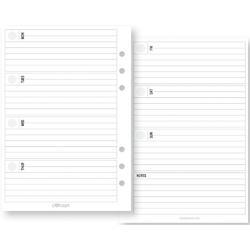 Carpe Diem Weekly Horizontal Double-Sided Inserts A5 72/Pkg