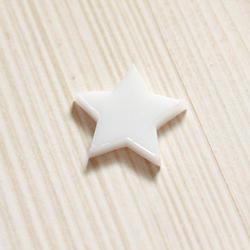Plexi ozdoba – Hvězdička – bílá