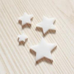 """Plexi ozdoba – sada """"Hvězdičky"""" – bílá"""