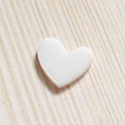 Plexi ozdoba – Srdíčko – bílá