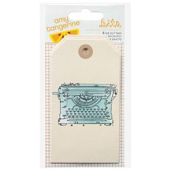 Plus One Bits Die-Cut Cardstock Tags 6 pkg