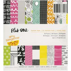 "Plus One Paper Pad 6""x6"" 36 sheets"