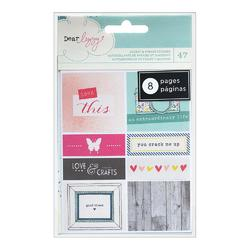 Polka Dot Party Cardstock Sticker Book Accents & Phrases