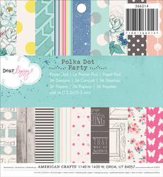 Polka Dot Party - Paper Pad 6x6 - Dear Lizzy