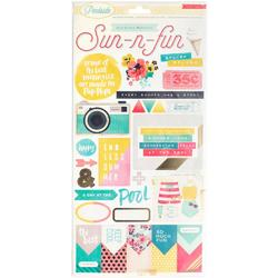 Poolside Journaling & Title Cardstock Stickers