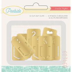 Poolside Metal Gold Tab Clips 12pkg - 1