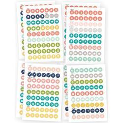 """Posh Calendar Stickers 4""""X6"""" 8/Pkg"""