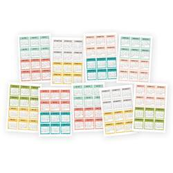 "Posh Mini Stickers 4""X6"" 9/Pkg"