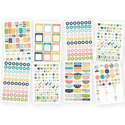 "Posh Planner Basics Stickers 4""X6"" 8/Pkg"