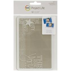 Project Life 4x6 SET #3 Photo Overlays 12 pkg - 1