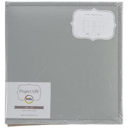 "Project Life Classic Faux Leather D-Ring Album 6""x8"" - šedé - 1"