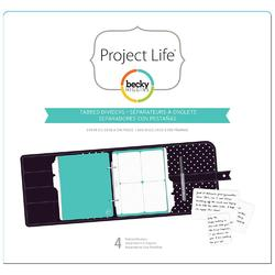 Project Life® Planner Tabbed Dividers 6x8 4pkg - 1