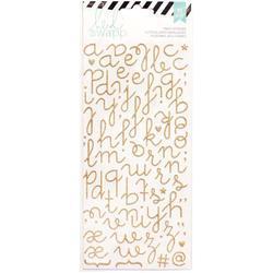 Puffy Alphabet – Gold Glitter