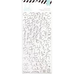 Puffy Alphabet – Silver Glitter