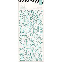 Puffy Alphabet – Teal Glitter