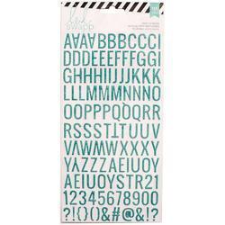 Puffy Alphabet Teal Glitter Upper Case