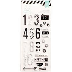 Puffy Numbers Stickers - Black & White