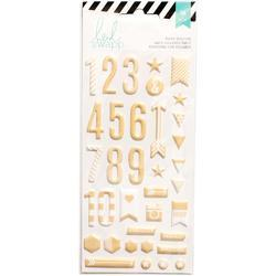 Puffy Numbers Stickers - Gold