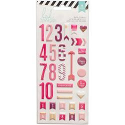 Puffy Numbers Stickers - Pink