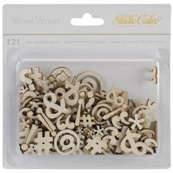 Punctuation Laser-Cut Wood Veneer 121 pkg - 1