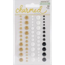 Record It! Charmed Adhesive Enamel Dots 60 pkg