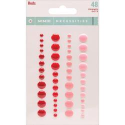 Reds Necessities Adhesive Enamel Dots 48 pkg