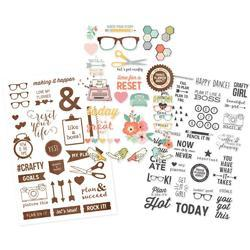 """Reset Girl Clear Stickers 4""""X6"""" 3/Pkg"""