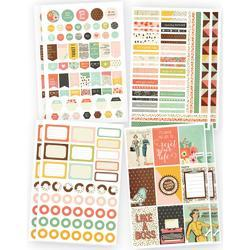 "Reset Girl Planner Basics Stickers 4""X6"" 8/Pkg"