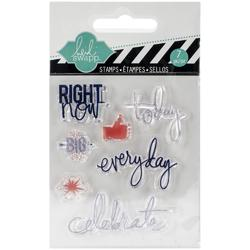 Right Now Mixed Media Clear Mini Stamps - 1